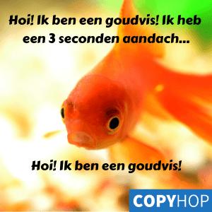 Hoi! Ik ben een goudvis!